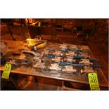 Lot of Assorted (18) S/S Ball Valves, & (1) S/S Micro-Motion Flow Meter, Clamp Type Inlet/Outlet (