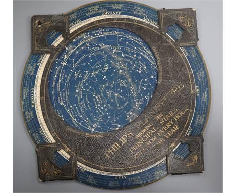 A Philips Planisphere WWII star identifier chart