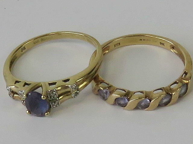 Lot 101 - Two 9ct gold rings;