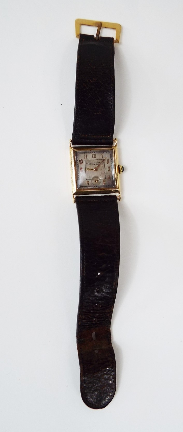 Lot 367 - Good quality art deco 1920s Vacheron Constantin gent's 18ct dress watch, the silvered dial with gilt