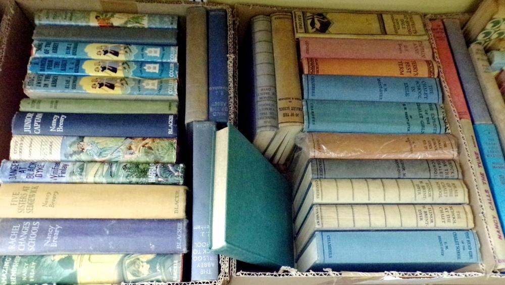 Lot 871 - An extensive collection of vintage girls adventure books including Angela Brazil, E J Oxenham, E M