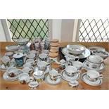 A quantity of Portmeirion Botanic Garden pattern wares including lidded storage jars, teawares,