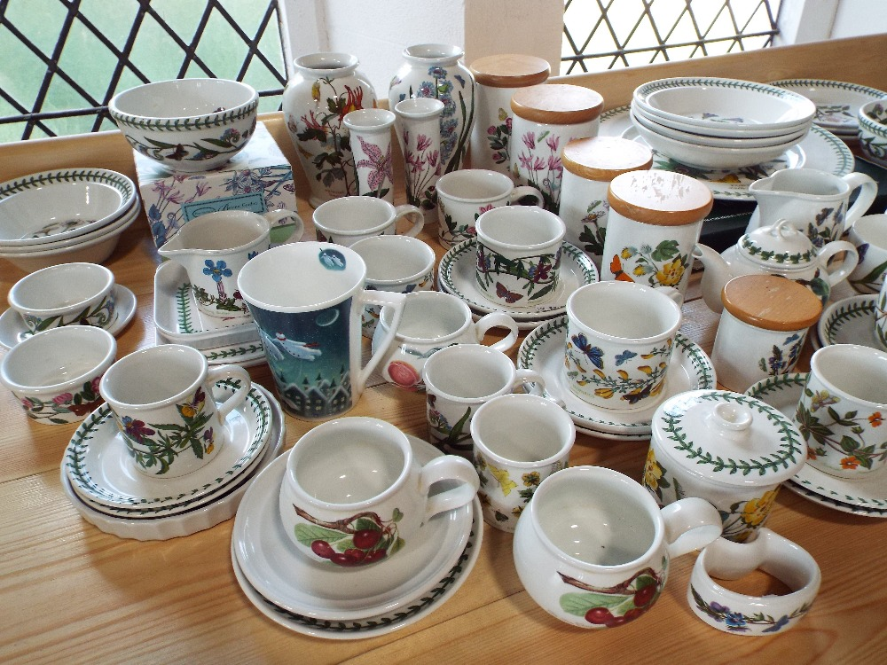 Lot 8 - A quantity of Portmeirion Botanic Garden pattern wares including lidded storage jars, teawares,