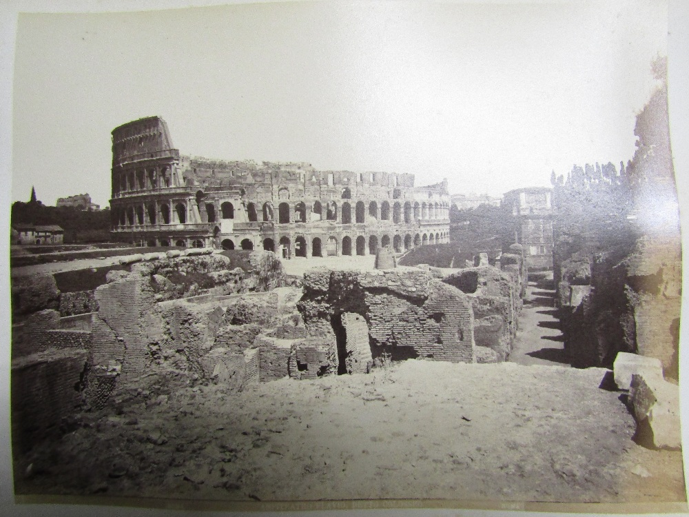 Lot 822 - ROMA - 19th century vellum bound (incomplete) series of commercial photographs (approx 60) ink