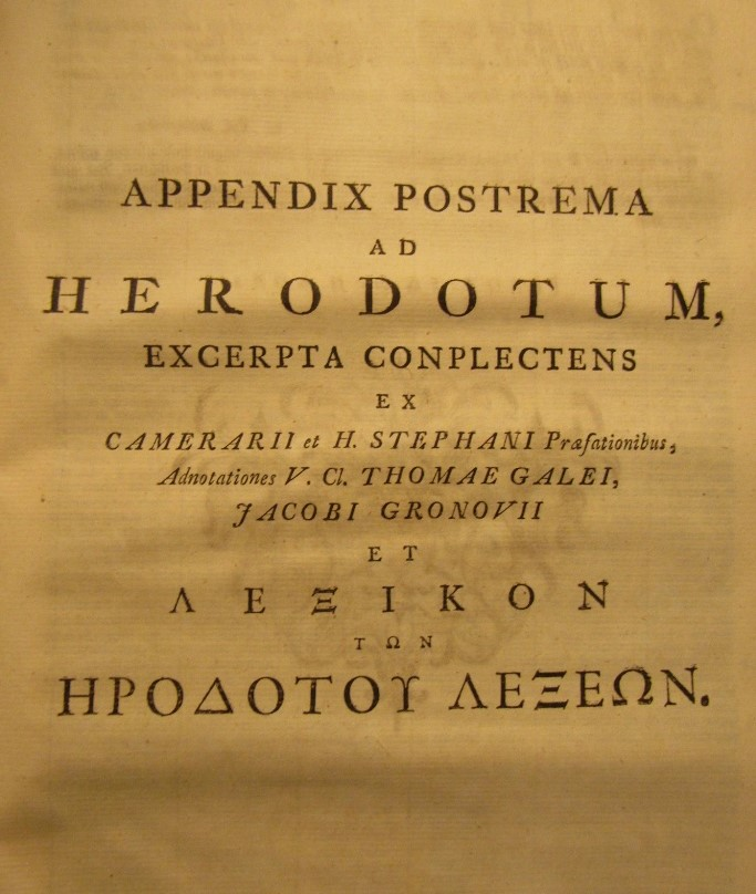 Lot 874 - 18th century book in Greek script, published in Amsterdam 1763 - vellum bound, 868 pages plus