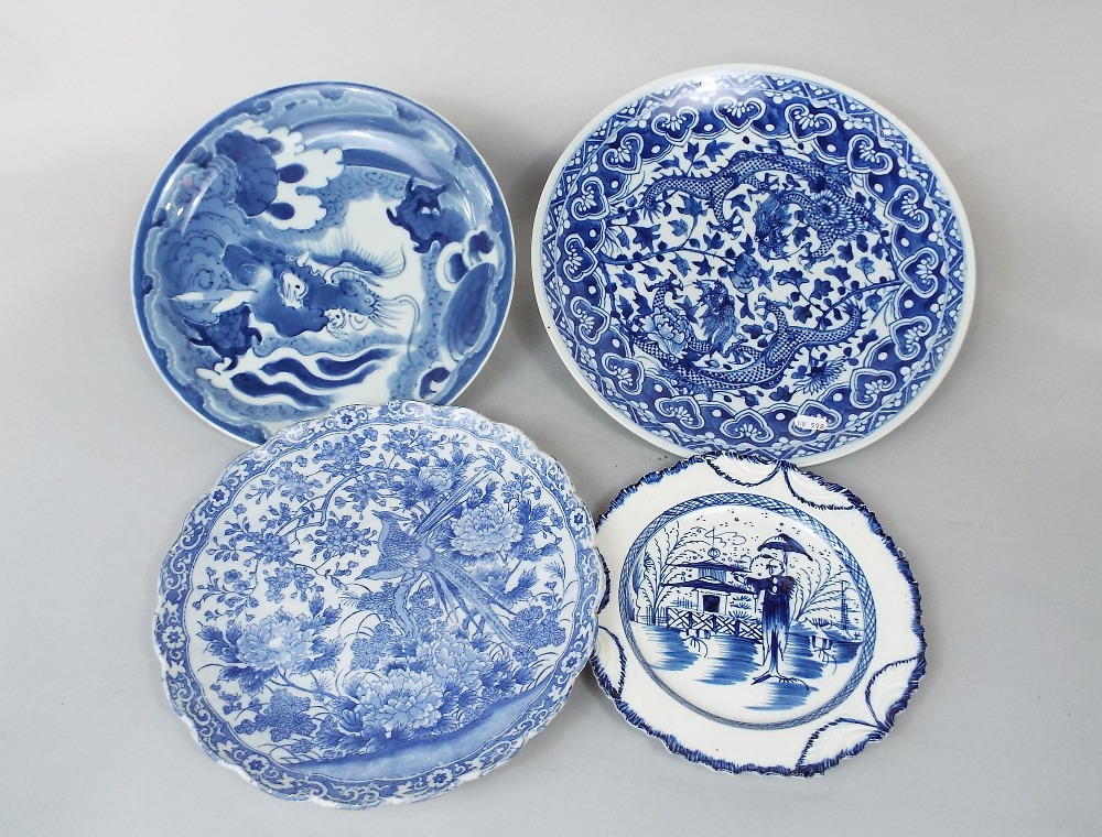 Lot 56 - A collection of 19th century and later oriental blue and white ceramics including a ginger jar