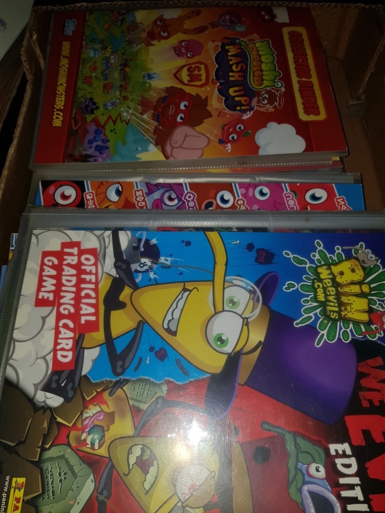 Lot 46 - A BOX CONTAINING TRADING CARD GAMES INC MOSHI MONSTERS ETC