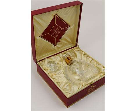 Baccarat crystal glass decanter and stopper, for Remy Martin 'Louis XVIII Grand Champagne Cognac', presented in original pres