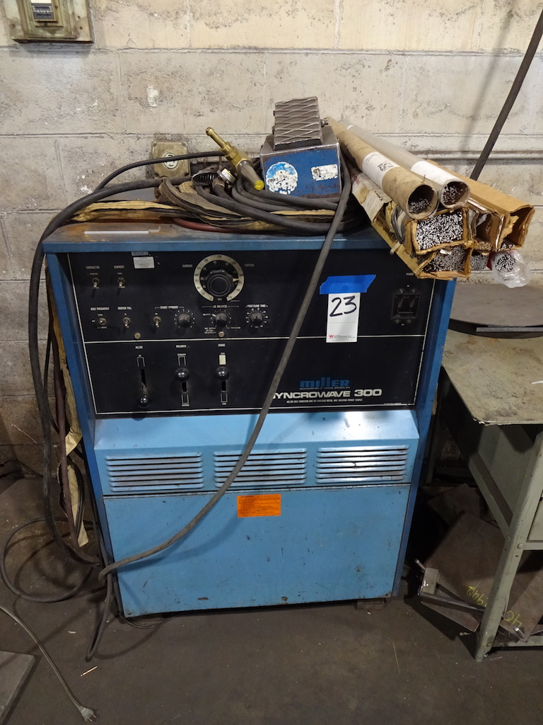 Lot 23 - Miller Syncrowave 300 AC/DC Gas Tungsten-Arc or Shielded Metal Arc Welding Power Source, S/N