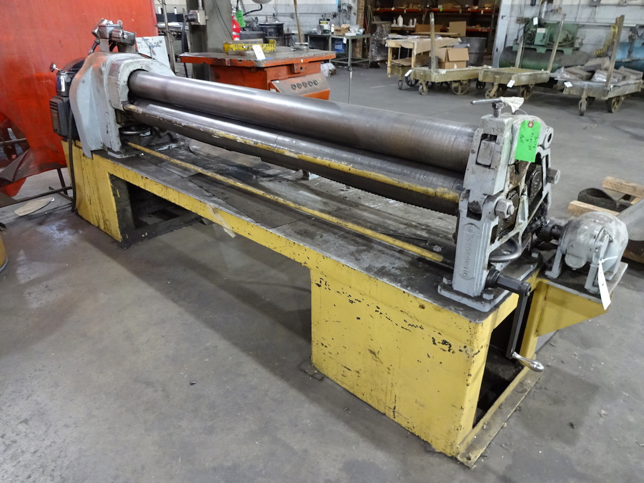 Lot 42 - Webb 6 ft. x 12 ga. Model 2L Bending Roll, S/N 620, 5 in. Dia. Rolls, AC Motor Controls