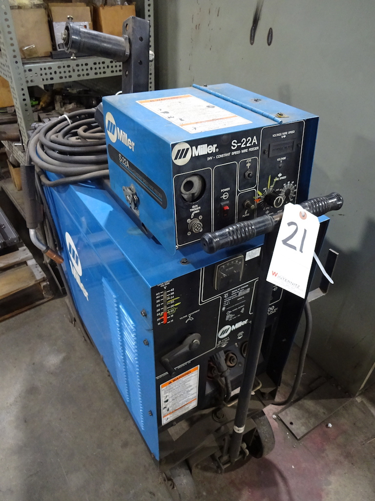 Lot 21 - Miller CP-300 Constant Voltage DC Arc Welding Power Source, S/N KG053259, Miller S-22A 24 Volt