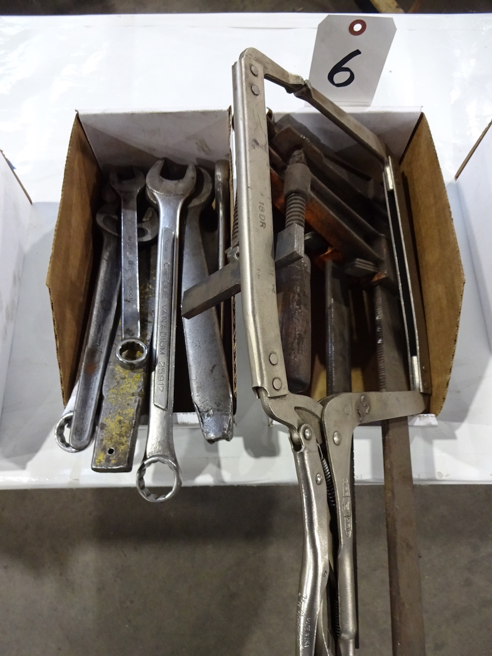 Lot 6 - LOT: Assorted Clamps & Wrenches