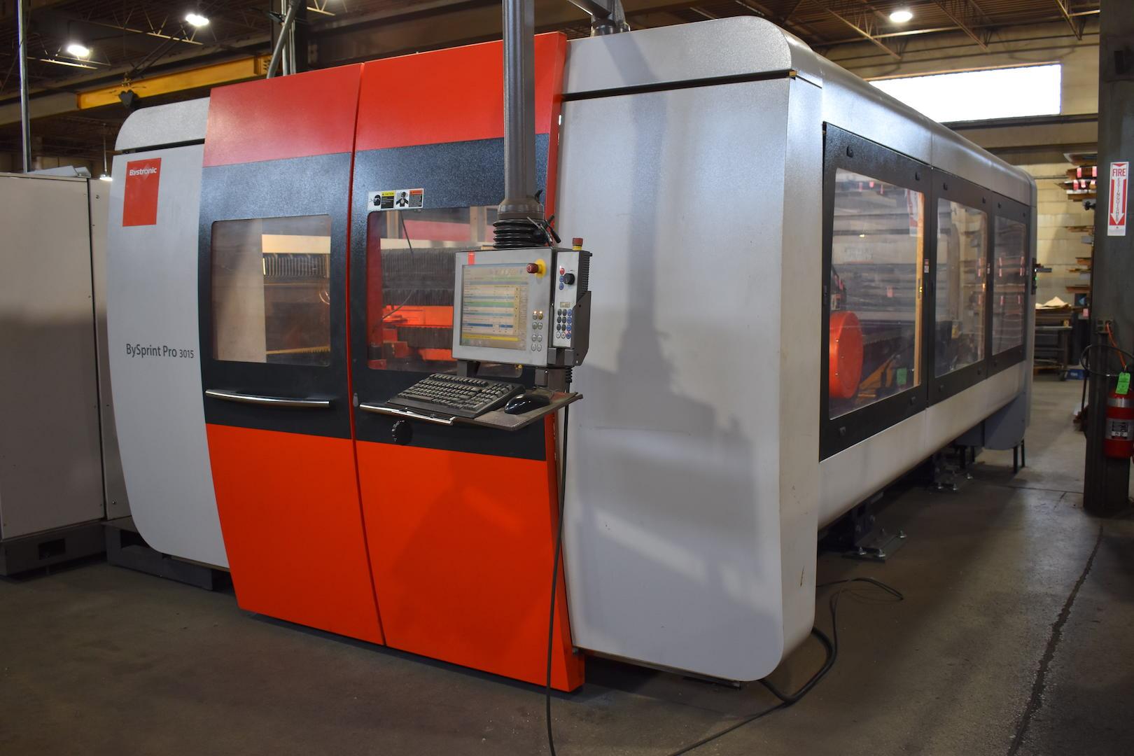 Lot 52 - Bystronic Model Bysprint Pro 3015 4400 Watt Twin-Table CNC Laser, S/N 30014476, Job No. 2413 (2011),