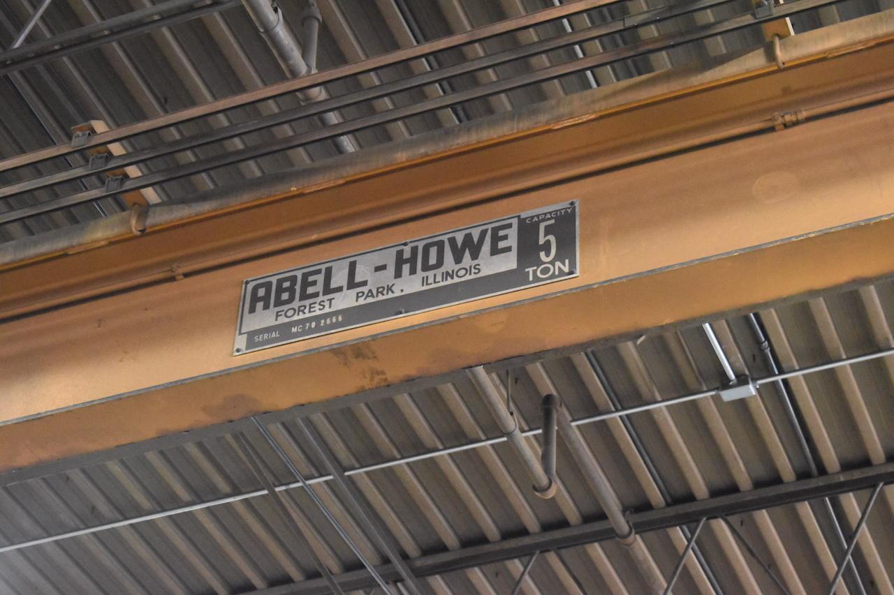Lot 18 - Abell-Howe 5 Ton Single Girder Overhead Bridge Crane, S/N MC70 2666, 37 ft. (approx.) Span (no