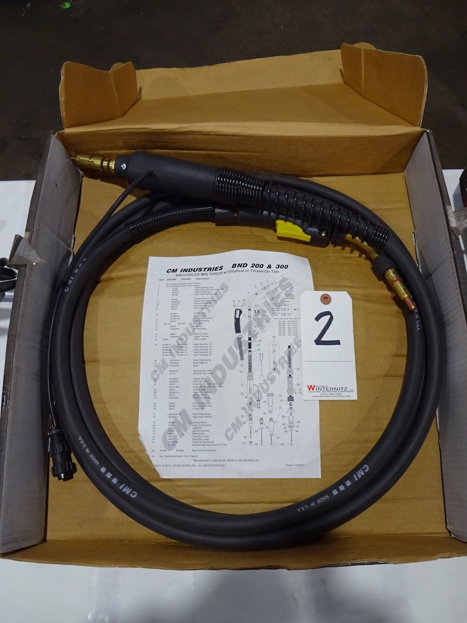 Lot 2 - CM Industries Air Cooled MIG Torch