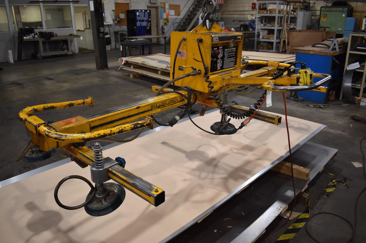 Lot 17 - Anver 10 ft., 600 lb. Model VP1 Vacuum Sheet Lifter, S/N 986480, Lifter Model E90M6-86-3/44