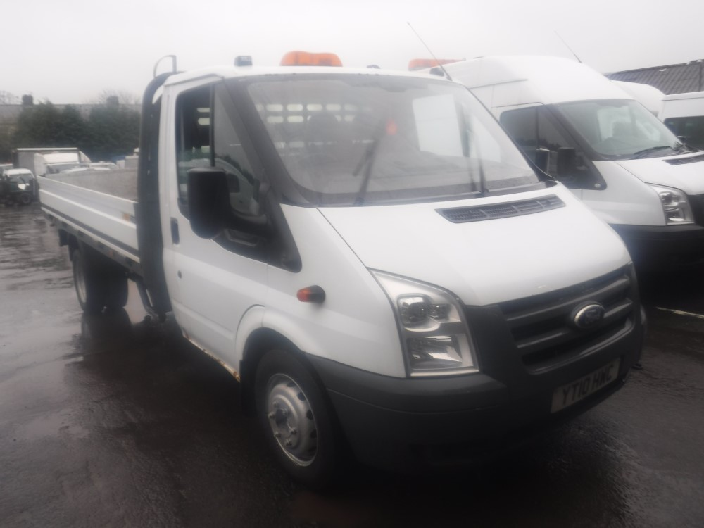 Lot 14 - 10 reg FORD TRANSIT 115 T350 DROPSIDE, 1ST REG 03/10, 147121M NOT WARRANTED, V5 HERE, 1 FORMER