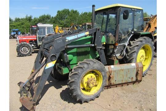 john deere 1640 4wd tractor with loader reg no c509 uks. Black Bedroom Furniture Sets. Home Design Ideas