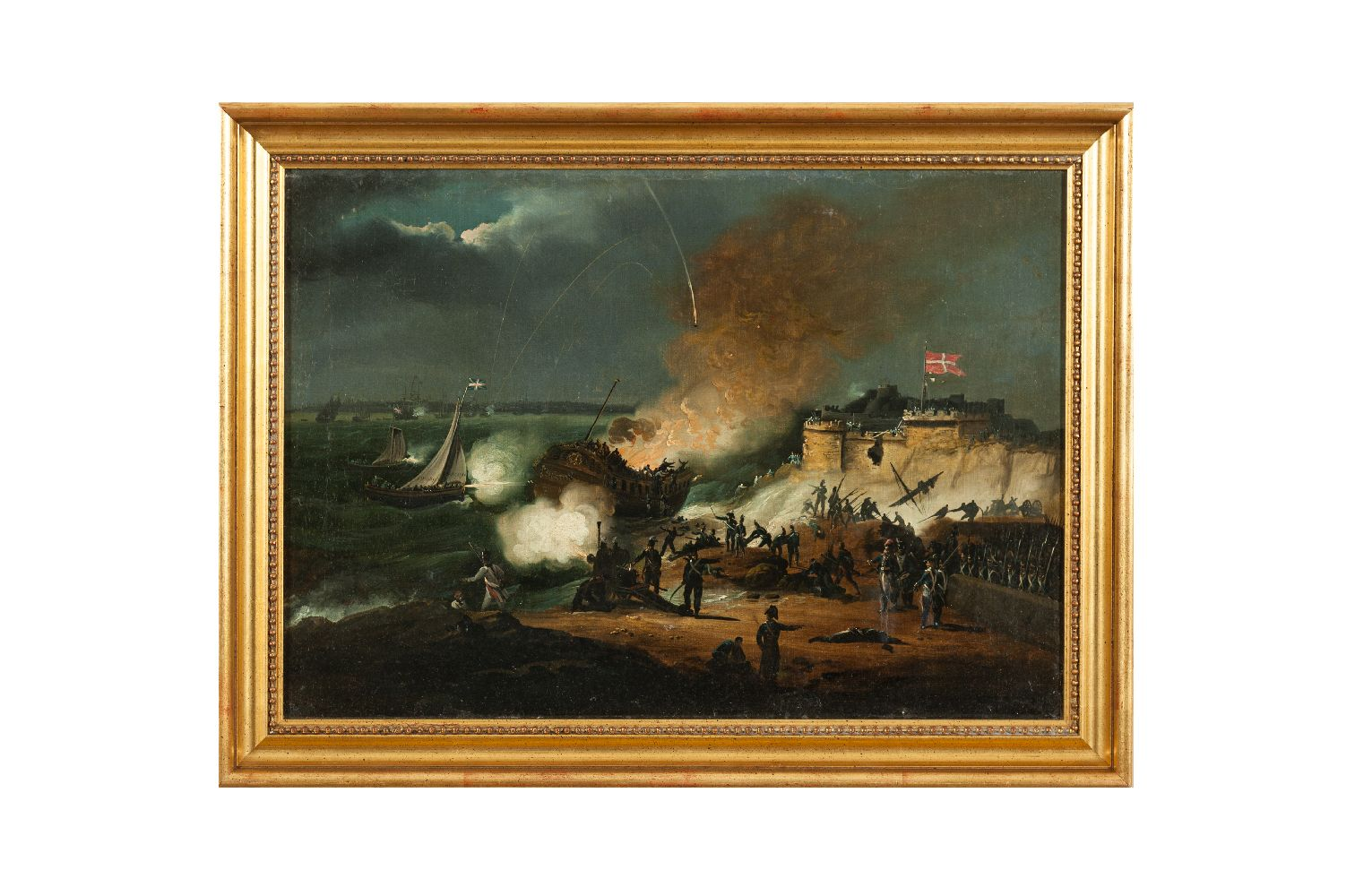 Lot 210 - William Sadler II (c.1782-1839)Battle of Copenhagen - 1801Oil on canvas, 38.25 x 54.5cm (15¼ x 21½)
