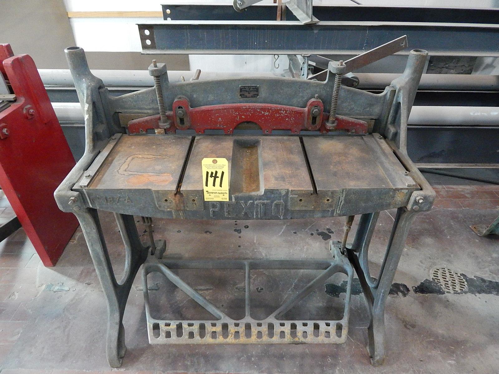 Lot 141 - Pexto Model 137-G Foot Shear, 36 In. X 16