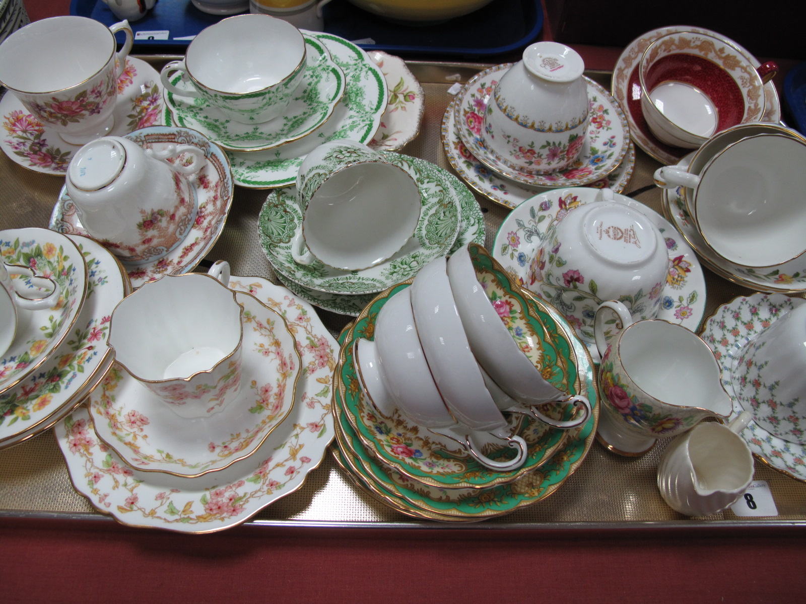 Lot 8 - Colclough, Paragon, Spode, Grafton, Minton and Other Tea Ware:- One Box