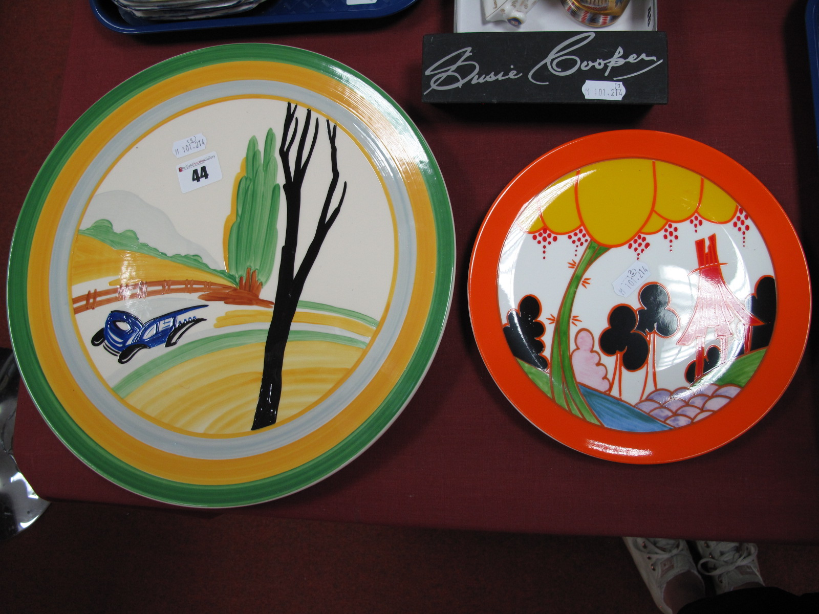Lot 44 - Wedgwood Susie Cooper Collector's Club Plaque, No. 1 'Panorama'; Wedgwood Clarice Cliff '