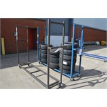 2: Fabricated Mobile U-Shape Tyre Storage Trollies Please Note: Does Not Include Tyres Shown in