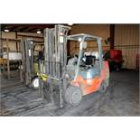 Toyota LPG Rider Type Forklift Truck 7,250# Max Lift Model #7FGCU35 4700 hrs