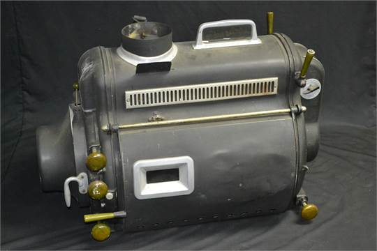 A Peerless Magnarc High Intensity Carbon Arc Film Projection Lamp, Glass  Nameplate, Bakelite Hand