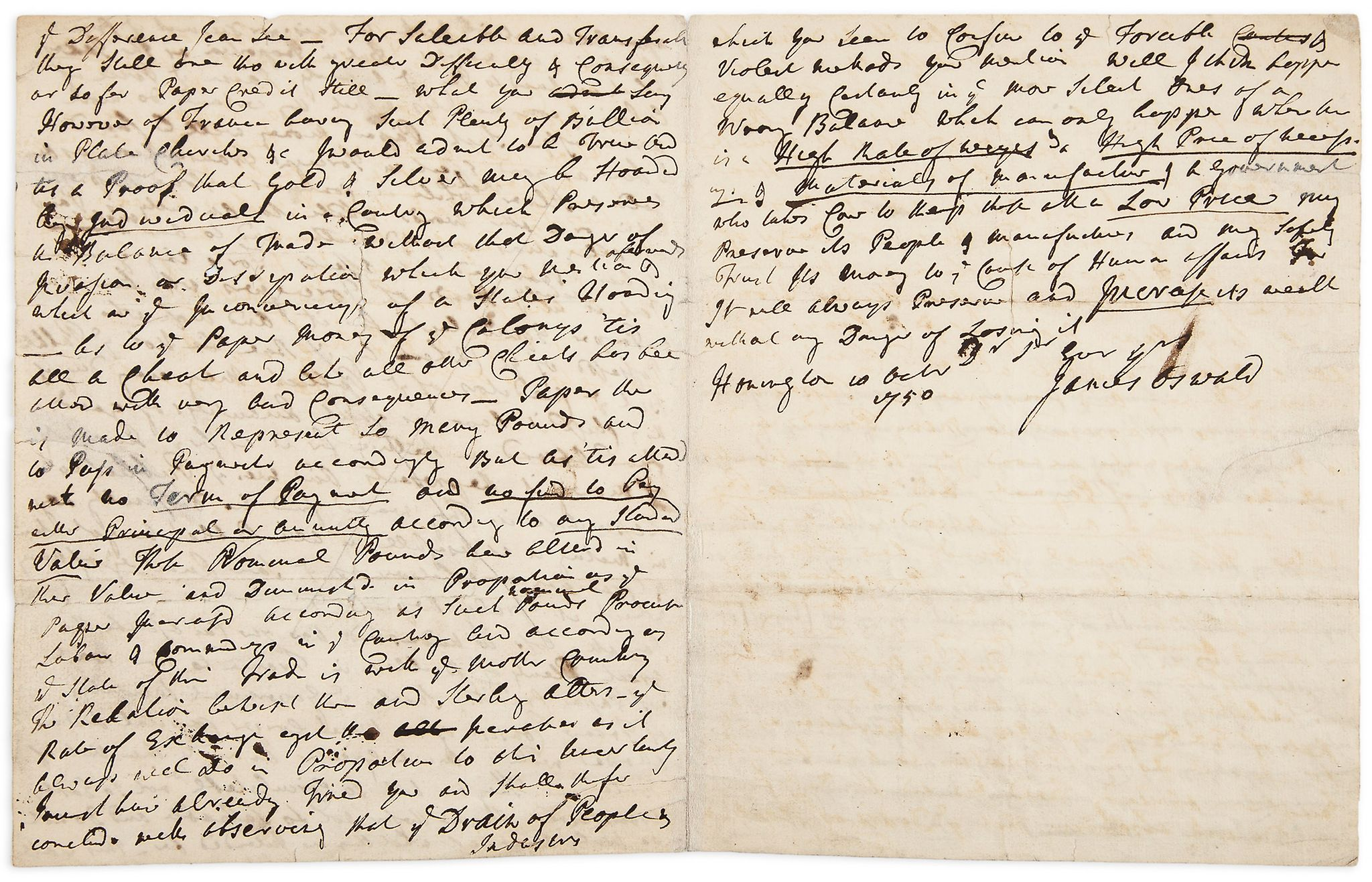 david hume essays an enquiry concerning human understanding david  hume autograph manuscript part of of the populousness of lot 39 hume autograph manuscript part of