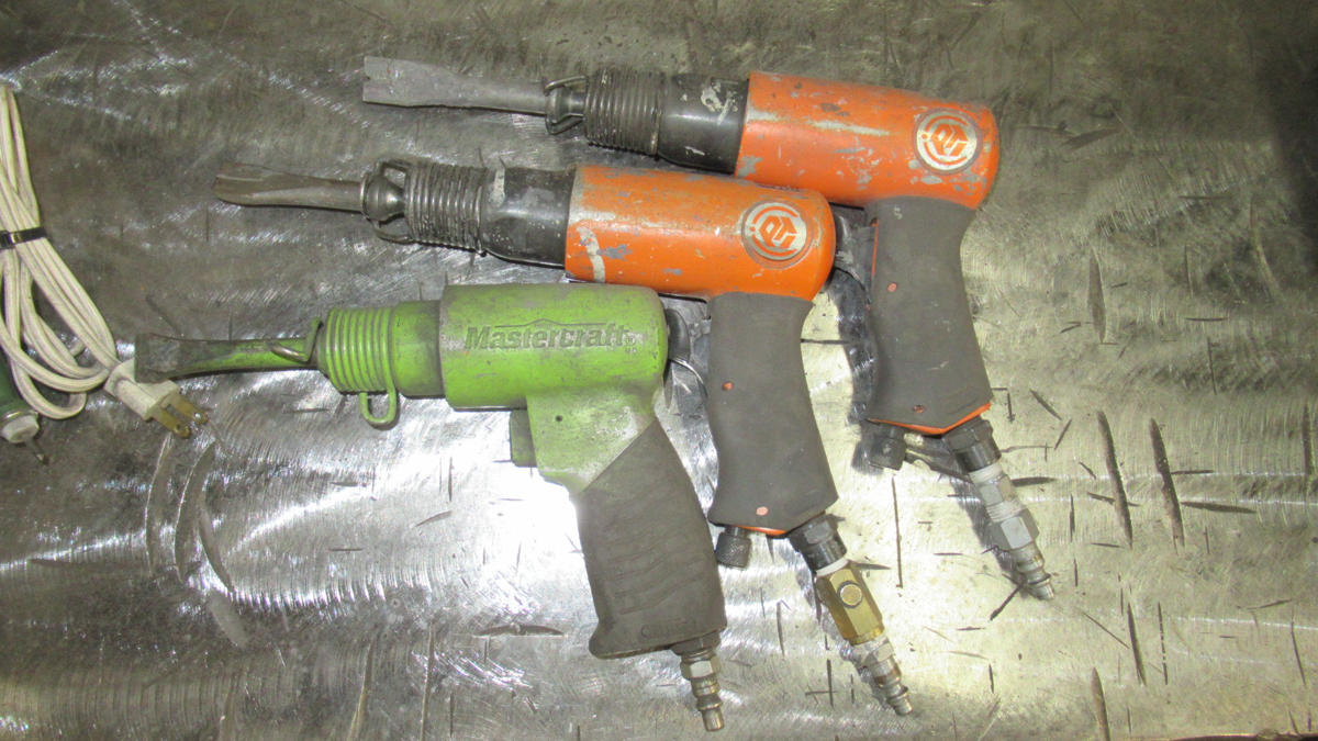 LOT OF 3 AIR CHIPPERS