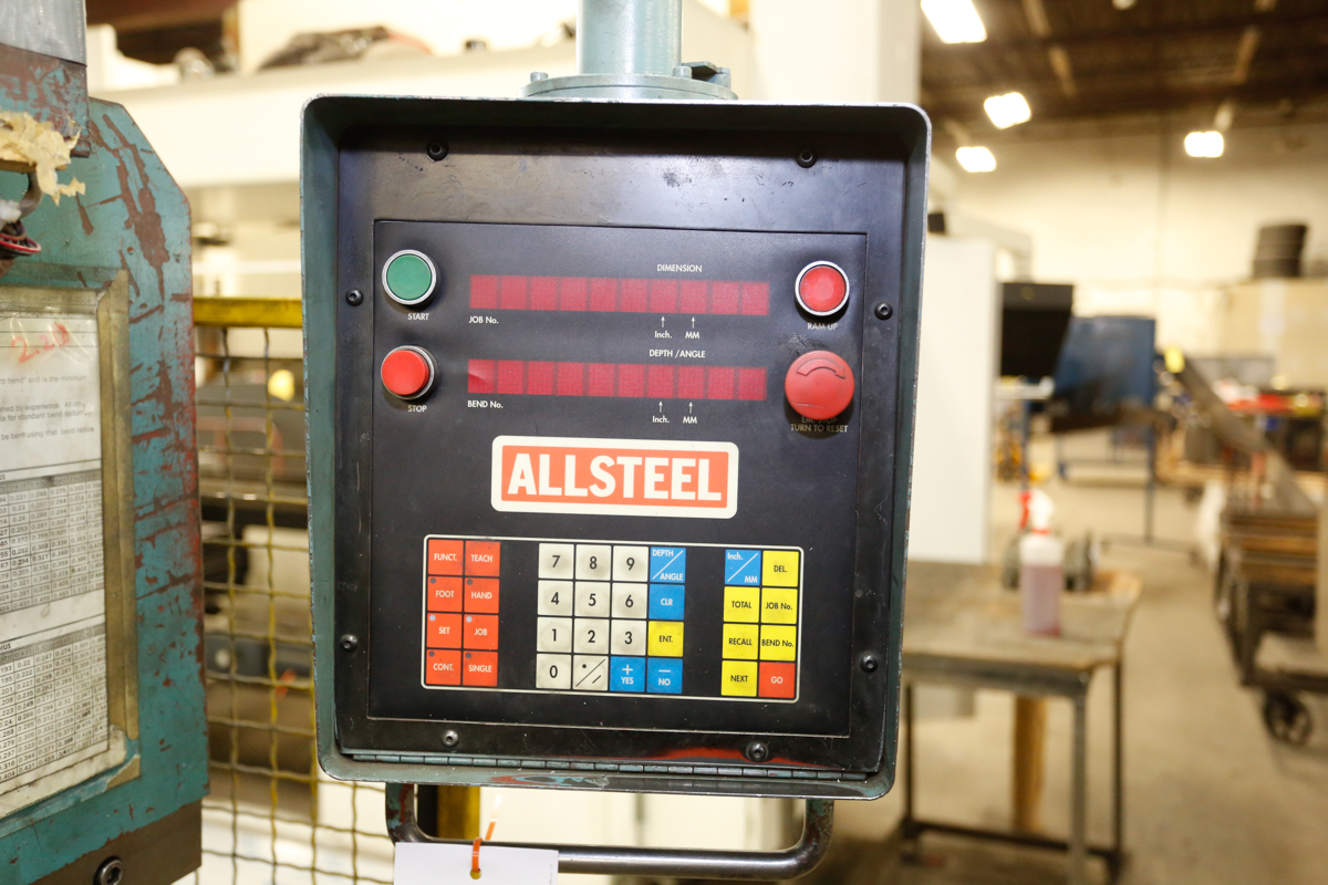 Lot 115 - ALLSTEEL 6' X TON BRAKE PRESS