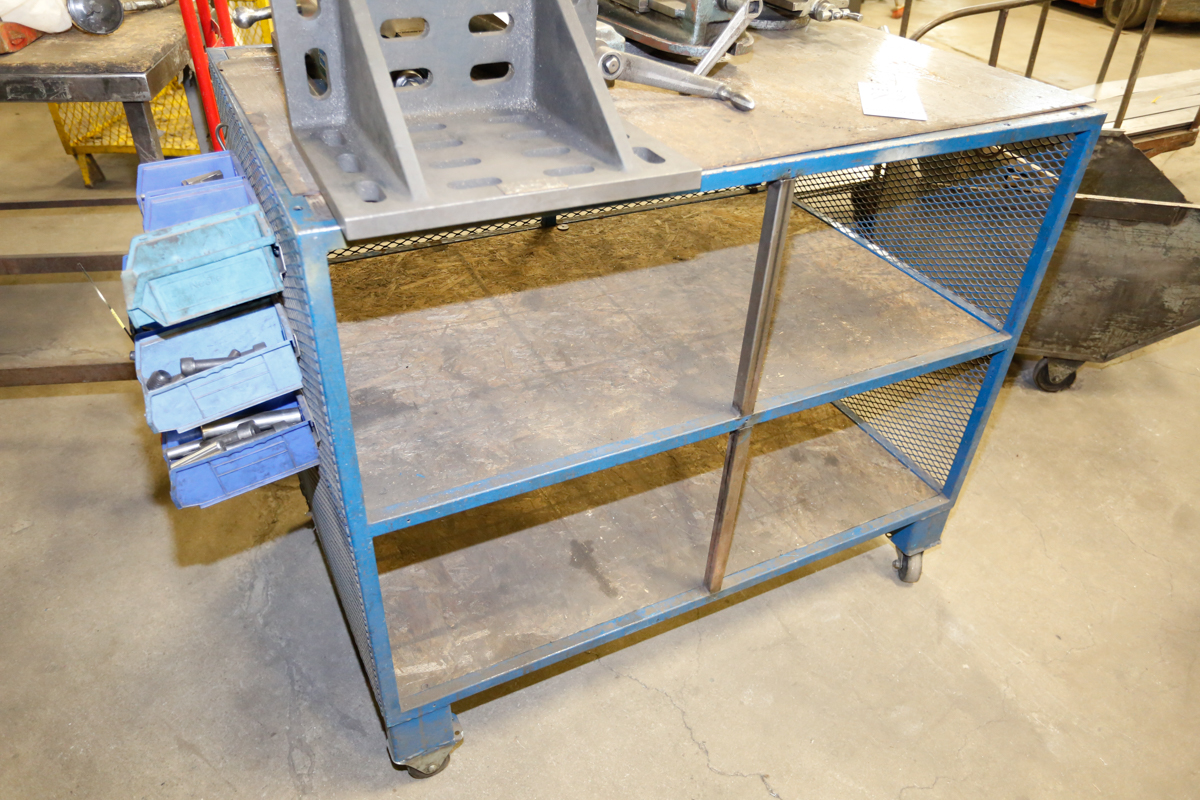 Lot 92 - PORTABLE STEEL TABLE