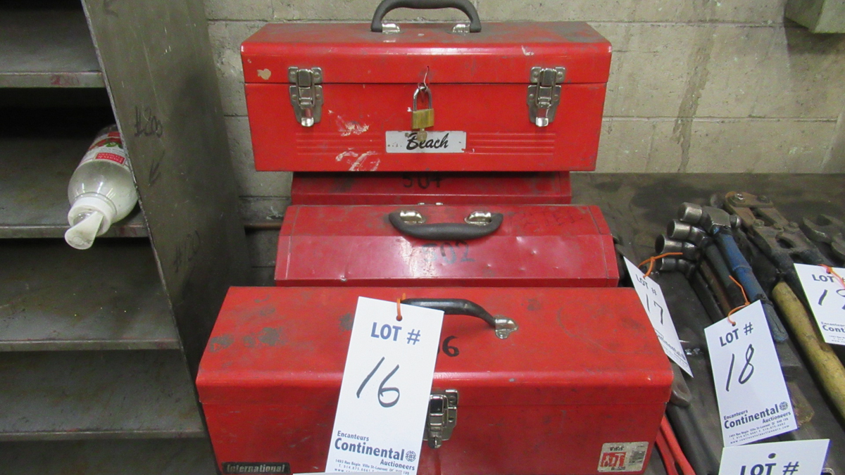Lot 16 - LOT OF ASSORTED TOOLS (4 BOXES)