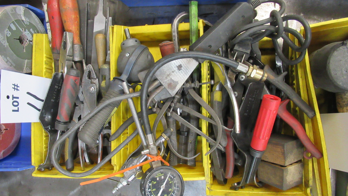 Lot 11 - LOT OF ASSORTED TOOLS (3 BOXES)