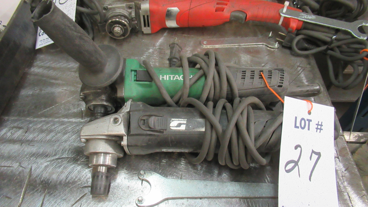 Lot 27 - LOT OF ASSORTED ELECTRIC GRINDERS