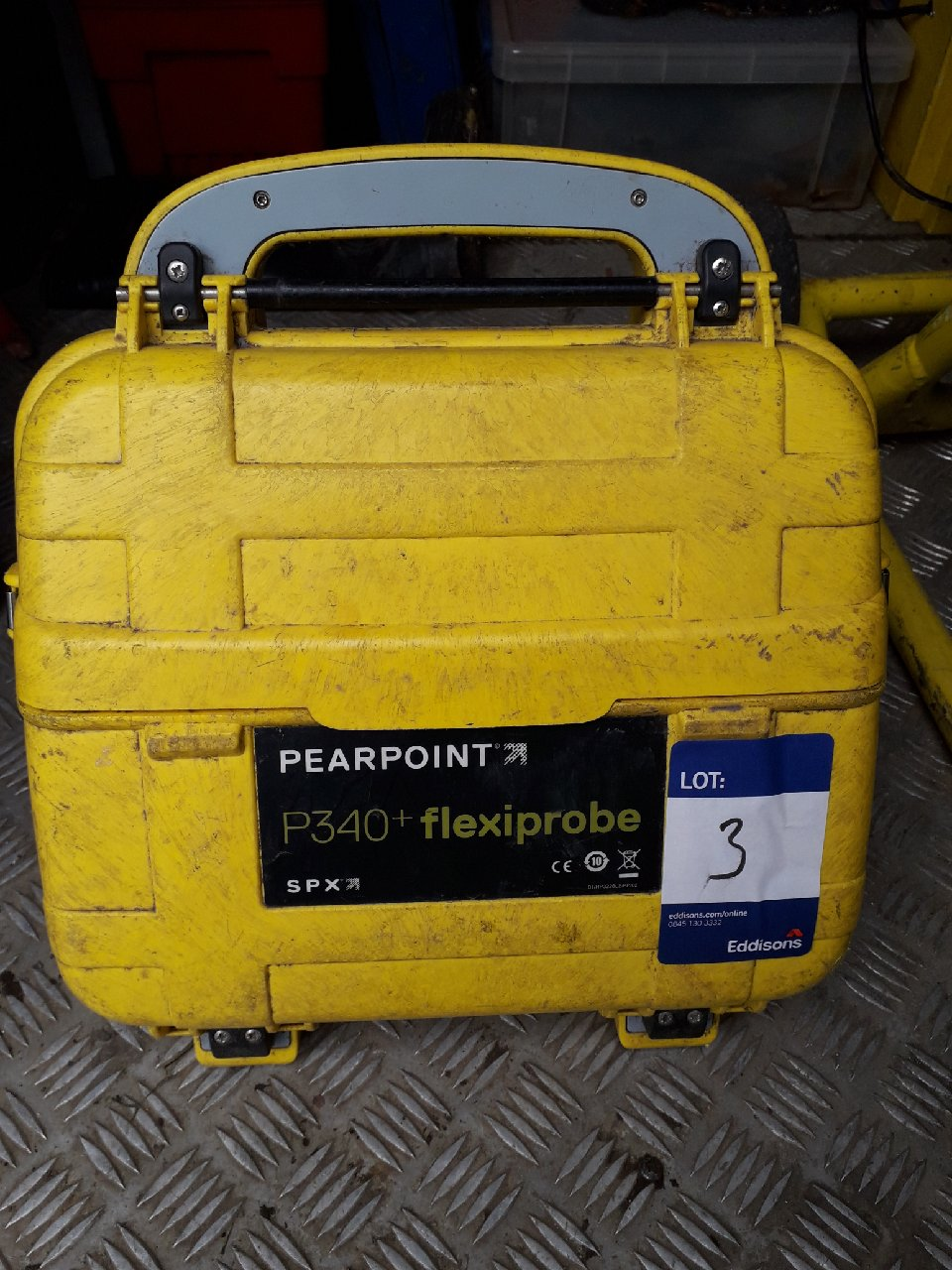 Lot 3 - Pearpoint P343 Flexiproble Reel with P340 flexiprobe CCTV monitor and Pearpoint tool bag with