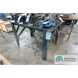 """**36"""" X 54"""" X 34"""" HIGH HEAVY DUTY STEEL FRAME AND TOP PLATE WORK TABLE **DELAY REMOVAL - PICKUP 11-"""