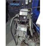 MILLER INVISION 456P MIG WELDER WITH MILLER 60M WIRE FEEDER & MILLER COOLMATE 3 WATER COOLER, S/N: