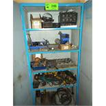 LOT/ CABINET WITH WELDING CONSUMABLES, ACCESSORIES & SPARE PARTS