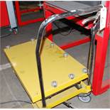 Cart with skate wheel top