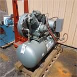 C & H 10-HP Model R-30 2-Stage Air Compressor S/N: 36254, RPM 600, 208/230/460, 1750 RPM, 3 PH locat