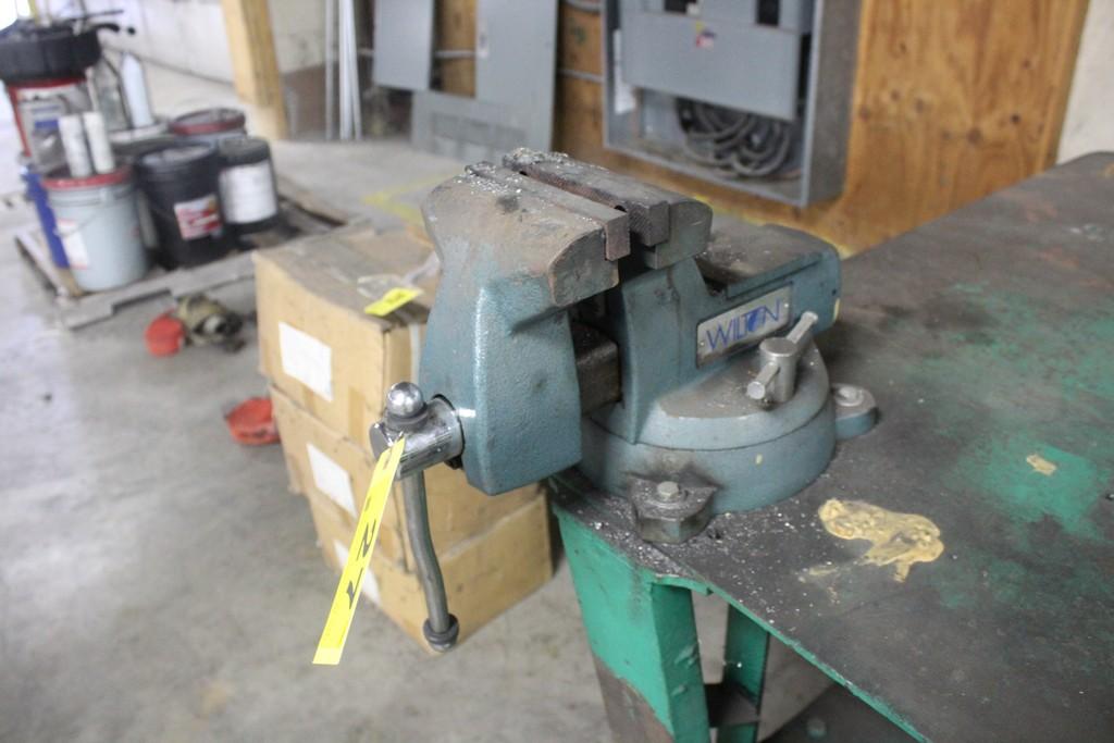 "Wilton 6"" Vise Mounted on Steel Work Bench - Image 2 of 3"