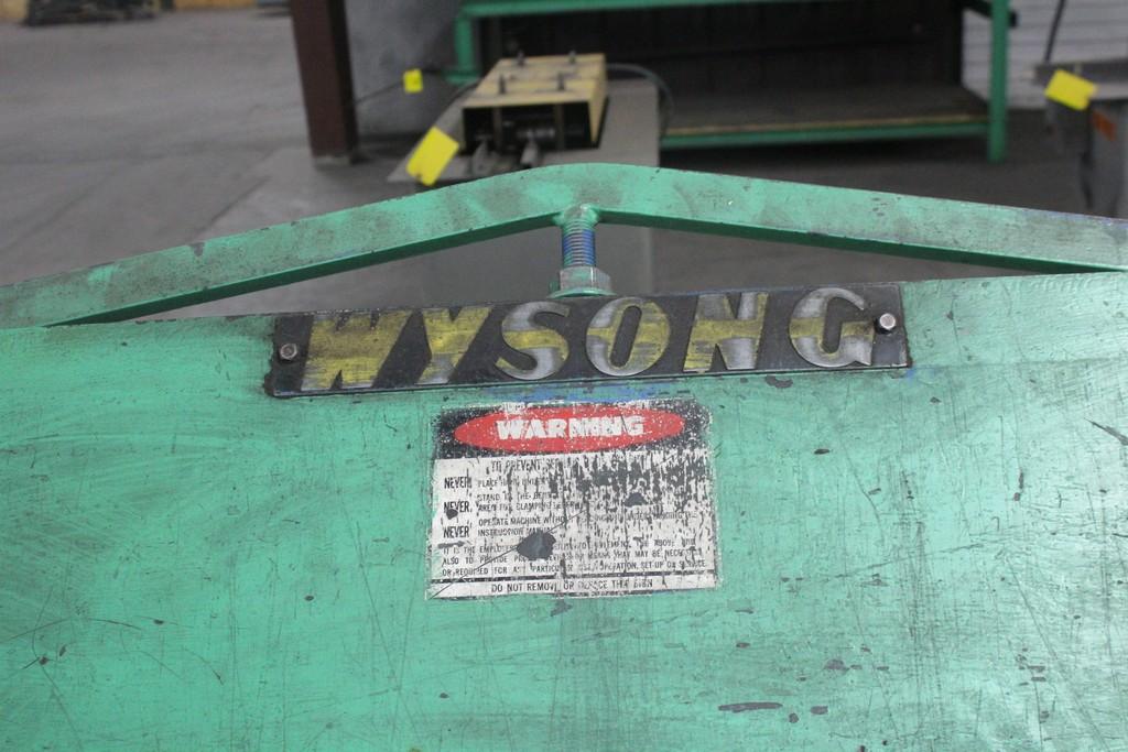 Wysong Model 168-22 Apron Brake, Serial Number: HB5-267 - 14' x 22 ga Capacity - Image 4 of 6