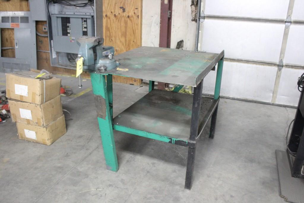 "Wilton 6"" Vise Mounted on Steel Work Bench"