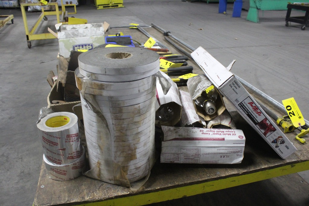 Lot: Miscellaneous: Electrical - Belts - Plumbing - Tape