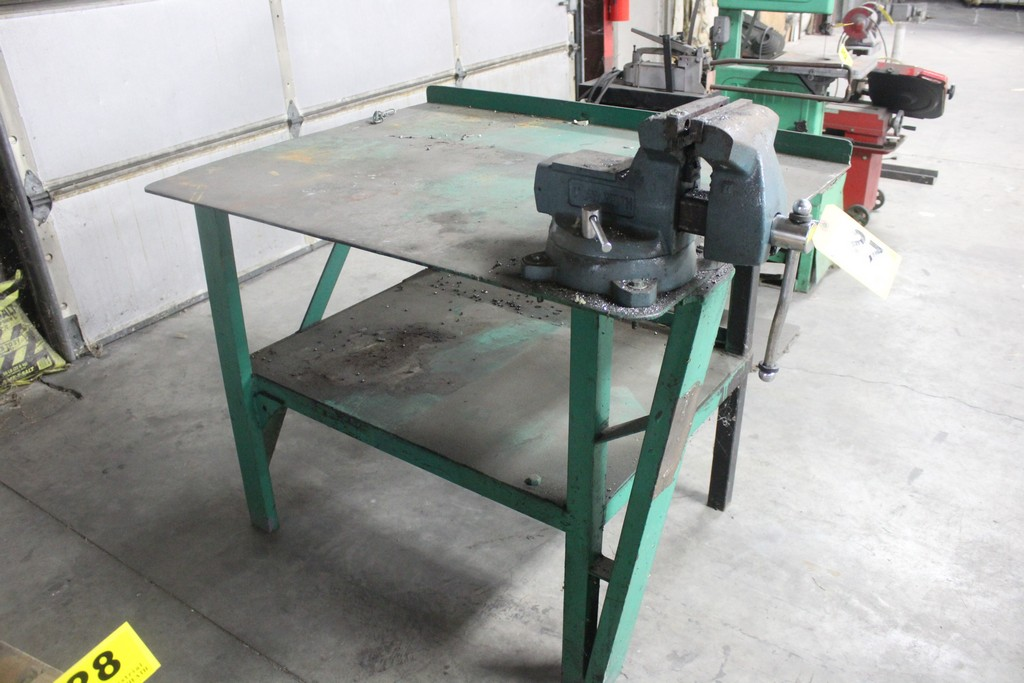 "Wilton 6"" Vise Mounted on Steel Work Bench - Image 3 of 3"