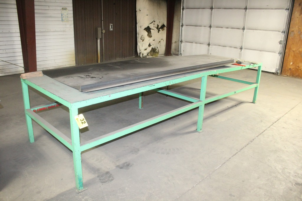 "48"" x 144"" x 33"" H Heavy Duty Steel Work Table"