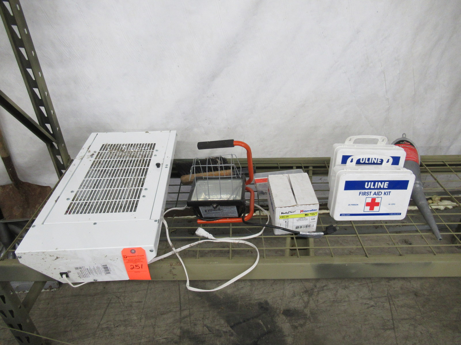 Lot 251 - Bug Light, Industrial Light, First Aid Kits, and more