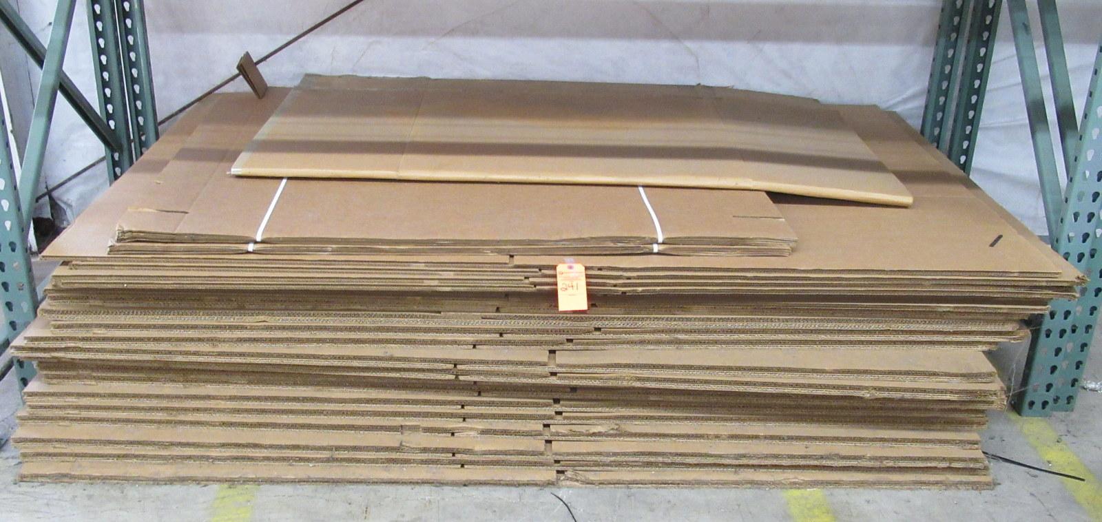 Lot 241 - Flat Cardboard Boxes